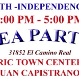 If you are in the mood for Tea Party politics this holiday weekend, there will be a 4th of July Tea Party in San Juan Capistrano, at the Historic Town […]