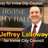 Irvine City Council candidate Jeff Lalloway had released a new TV commercial, which is offered above. Lalloway was recently endorsed by the Republican Party of Orange County. Lalloway's fellow Republican […]