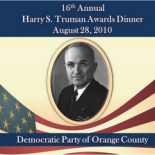"""Midway through Congressman Barney Frank's keynote address, a younger man brought him a glass of water. Barney explained to the audience of 400 Orange County Democrats, """"That's my partner Jimmy. […]"""