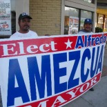 In a sign of growing desperation, Alfredo Amezcua's mayoral campaign has hired human signs to stand on the corner of 17th and Main St., in front of the Norm's Restaurant. […]