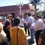 . . . . . A small but spirited crowd gathered on Saturday in Anaheim's -  unofficial but should be official – Little Arabia district to  celebrate  the people's ouster...