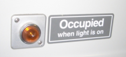 Bathroom occupied indicator light latest the sign assembled on the cheap occupied when light is on sign with bathroom occupied indicator light aloadofball Gallery