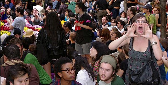 Demonstrators at Occupy Wall Street