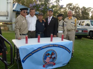 Picture:  Members of UMAVA Mexican American Veterans with Mayor Miguel Pulido