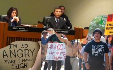 Collage of Occupy Santa Ana photos