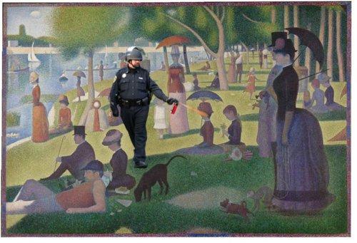 Pepper spraying cop & Seurat