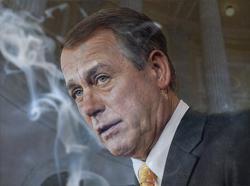 John Boehner with smoke