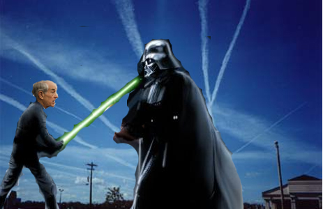 Ron Paul and Darth Vader duel over chemtrails