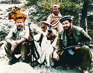 Dana Rohrabacher with Taliban Photoshopped with Carmen Miranda headdress