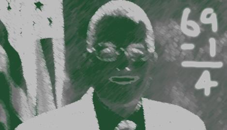 Chalkboard portrait of Robert Hammond