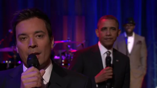 "Jimmy Fallon and President Obama ""slow jam the news."""