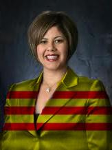 Michele Martinez in Vietnamese Flag Suit