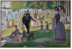 Pepper spraying cop & Seurat