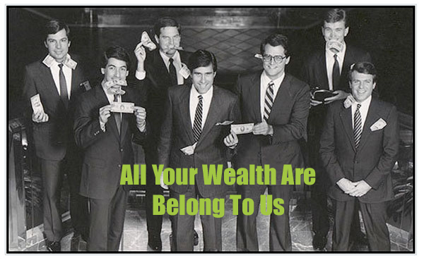 "Romney ""Money"" Photo with ""All Your Wealth Are Belong To Us."""