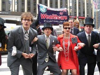"""Billionaires for Romney"" activists"