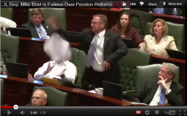 Illinois Republican Mike Bost goes nuts on Assembly floor
