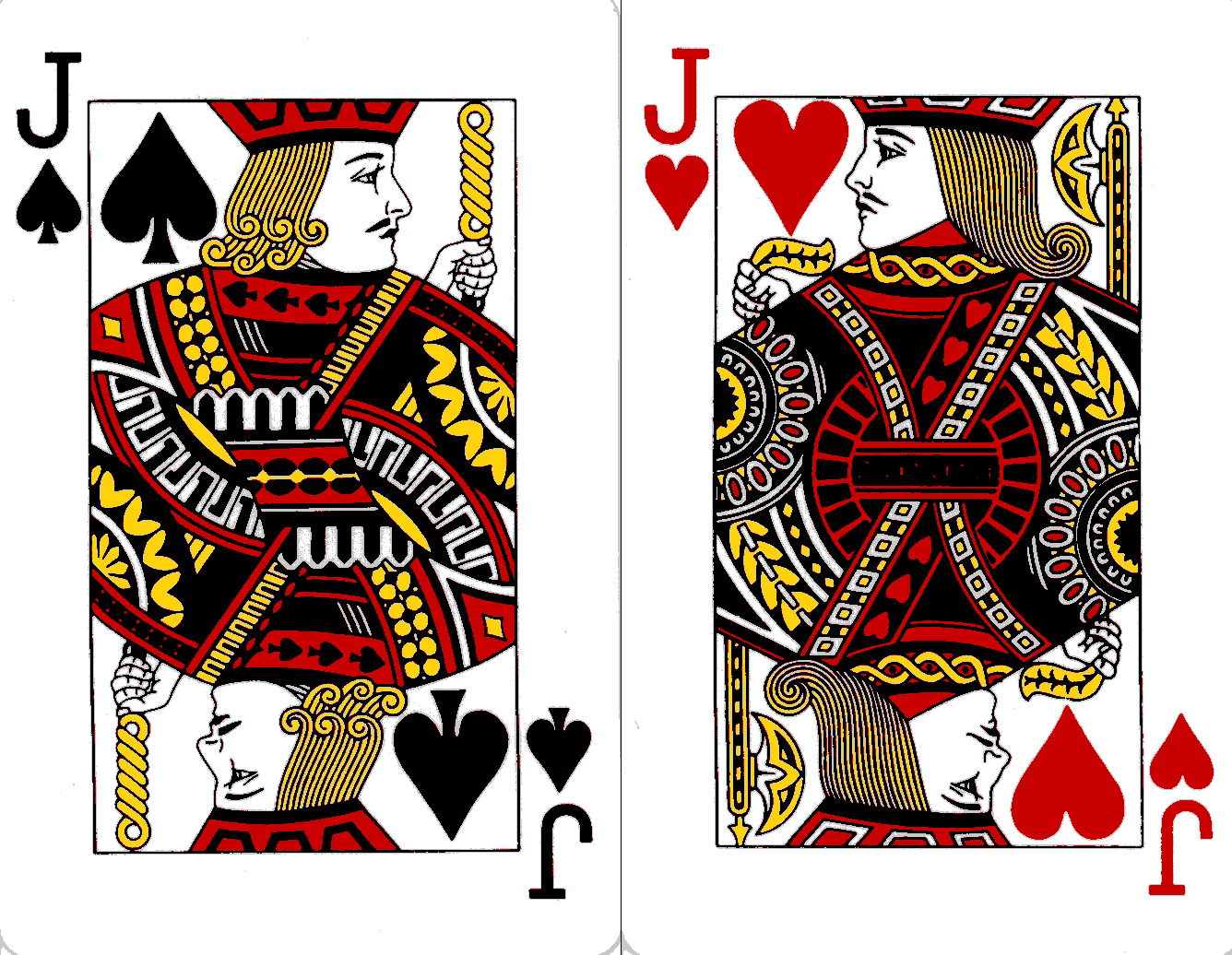 Pair of one-eyed jacks