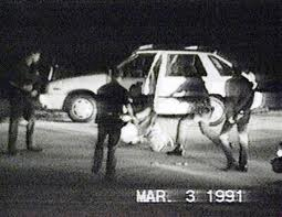 video still from Rodney King beating