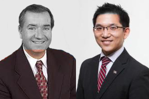 Ed Royce and Jay Chen, with coloring reduced by the size of their warchest they spent on the primary election