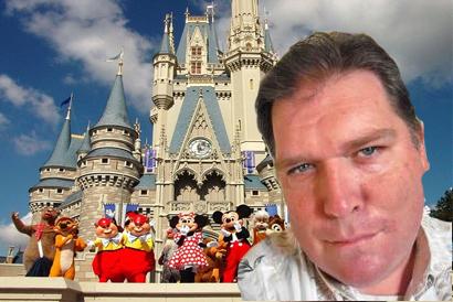 Duane Roberts in front of Disneyland