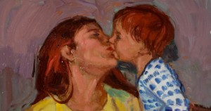 """Crop from """"Kelly with Mom"""" by John Sollom"""