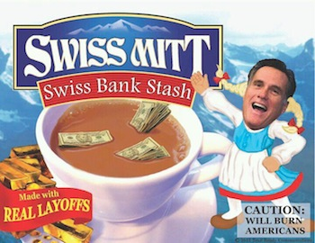 Mitt Romney as Swiss Miss