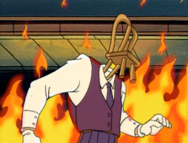 """Chairface, supervillain from """"The Tick"""""""