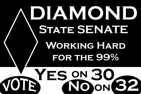 Greg Diamond campaign sign