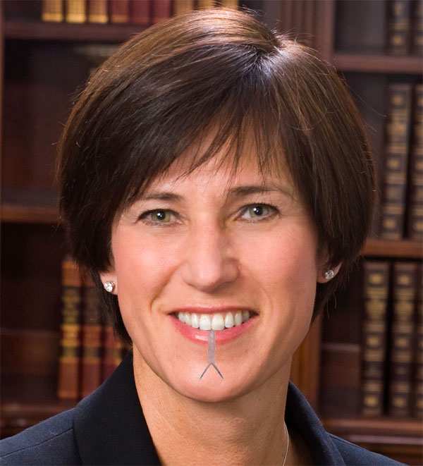 Mimi Walters with forked tongue