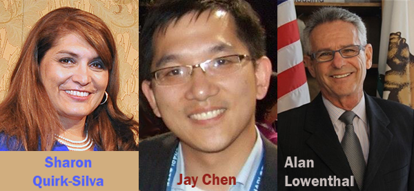 Sharon Quirk-Silva, Jay Chen, Alan Lowenthal