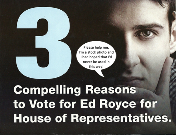 """Cover of Royce ad -- """"3 compelling reasons to vote for Royce"""""""