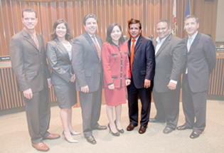 Santa Ana City Council -- all but Pulido translucent