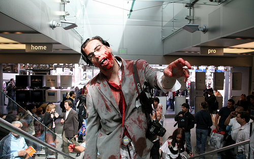 Zombie at the mall