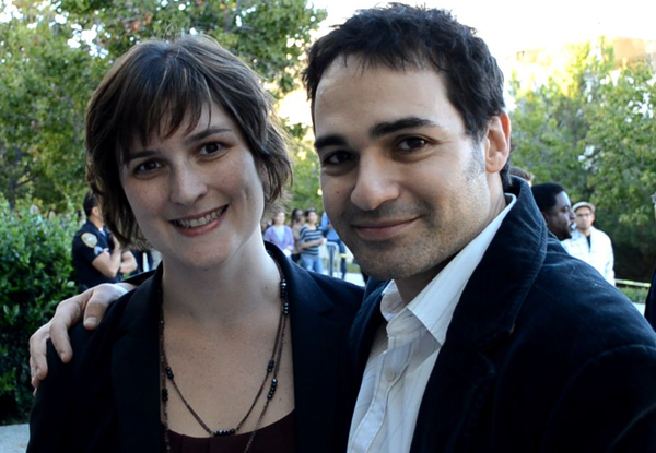 Sandra Fluke & fiance at Clinton UCI Event
