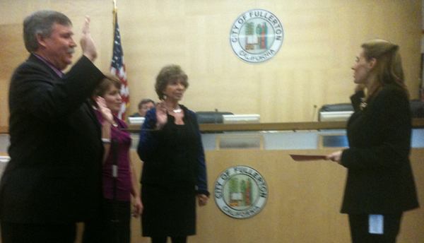 Fullerton Council swearing in Dec 2012
