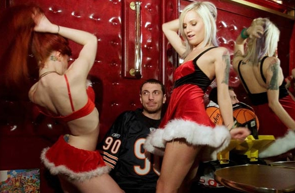 lap dancing with Santa's elves