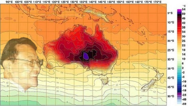 Australia weather map + Choi