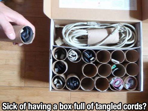 Life-hacking - Tangled cords