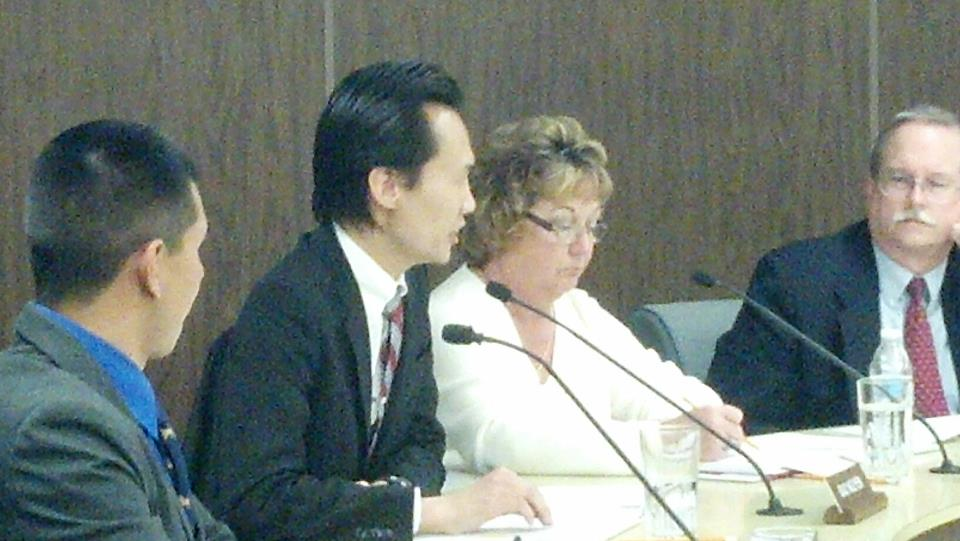 Bao Nguyen speaks to Garden Grove School Board on Tet Parade