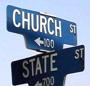 Street signs at intersection of Church and State Streets