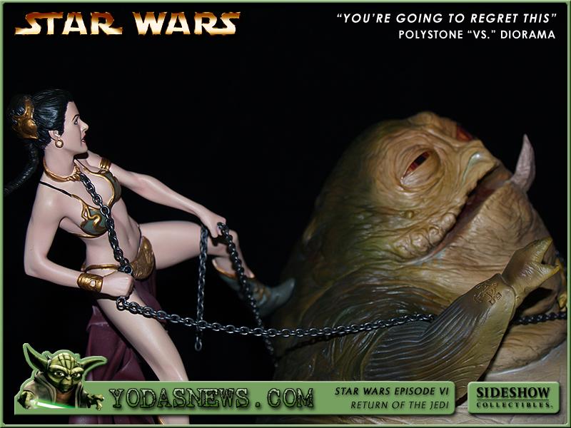 Leia Strangles Jabba figures