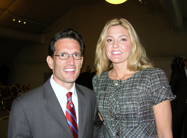 Sarah Catalan with Eric Cantor