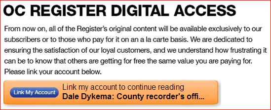 OC Register Digital Access