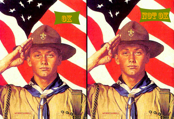 Two Normal Rockwell Boy Scouts, With Amendments