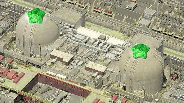 San Onofre reactor wearing green pasties