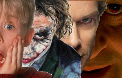 Sociopaths from Home Alone, Batman, Dexter, and Silence of the Lambs