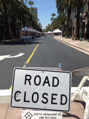 Eid fest - road closed