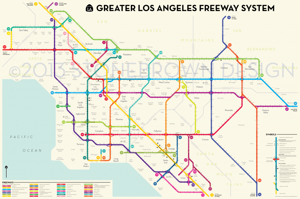 LA Freeway System Subway Style