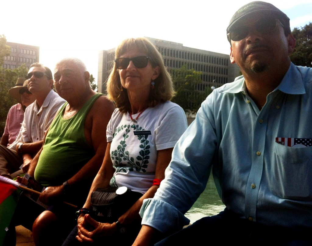 Dream @ 50 rally -- organizer Felicity Figueroa and others observe events