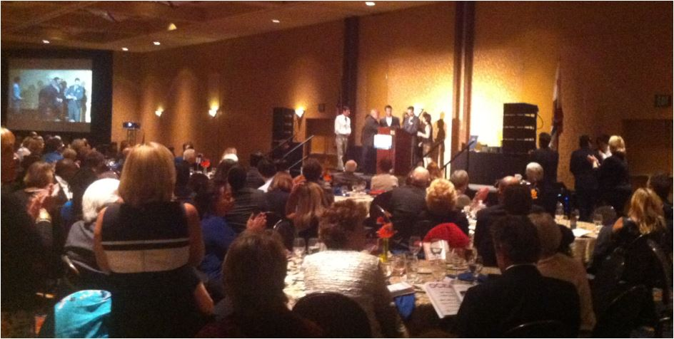 Truman Dinner 2013 - Gus Ayer's family accepts his award